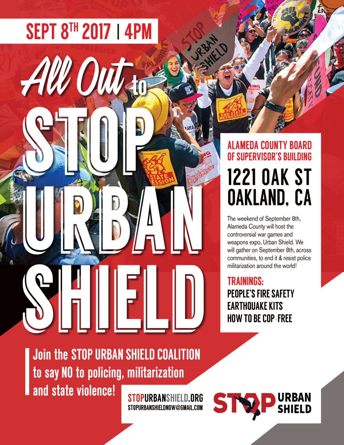 All Out to Stop Urban Shield